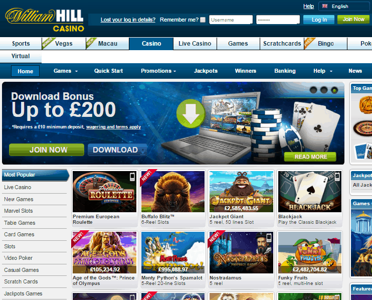 Enjoy the best gaming experience at Williamhill casino